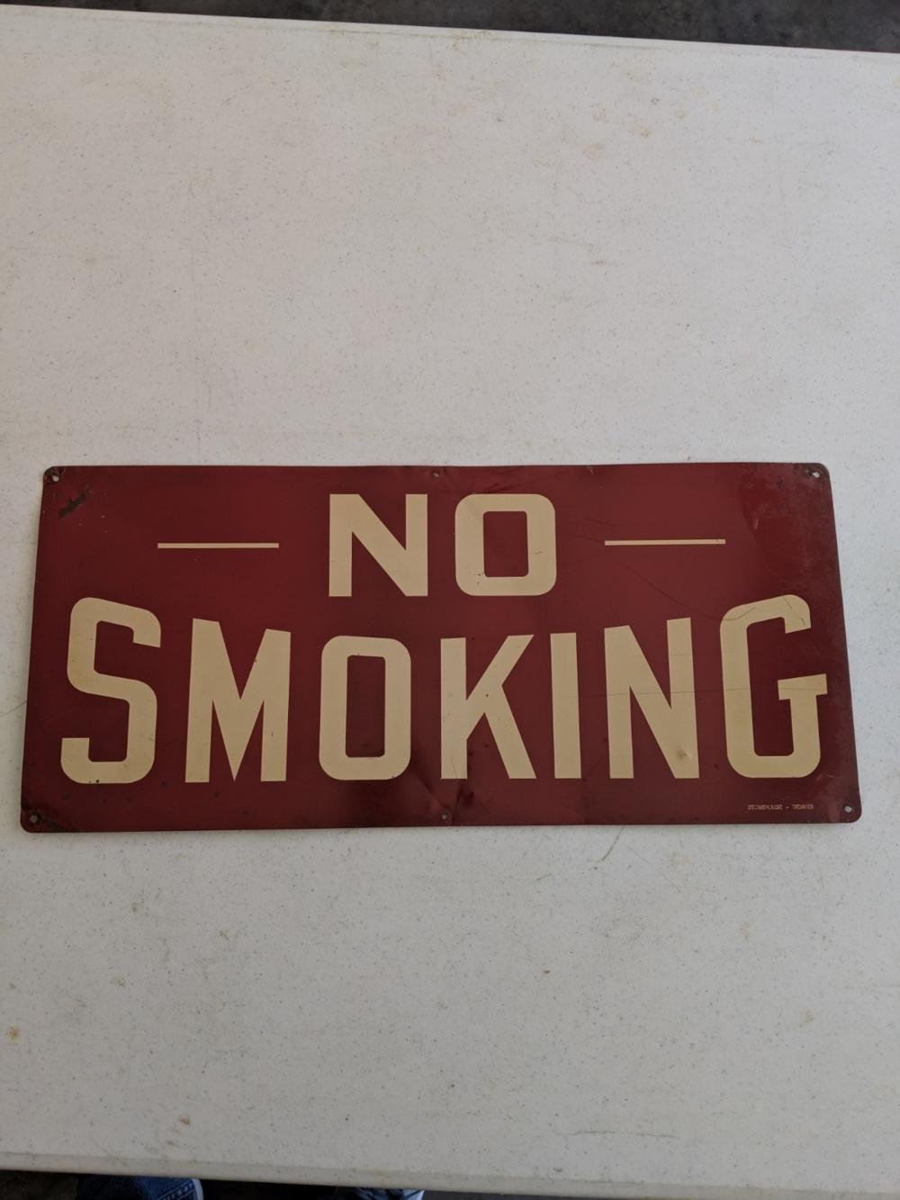 No Smoking Sign Metal