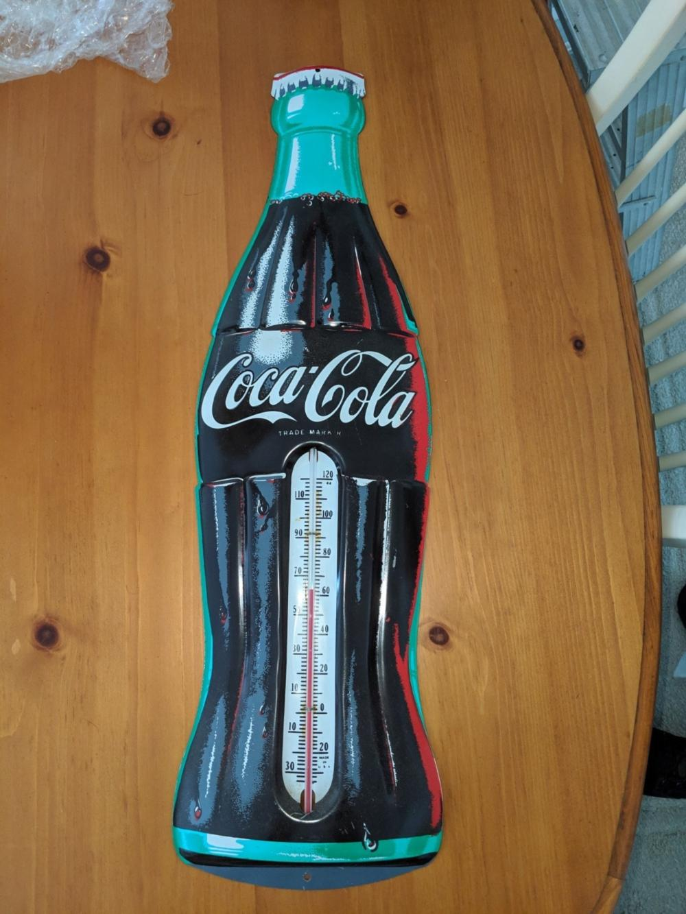 Coca Cola Bottle Thermometer