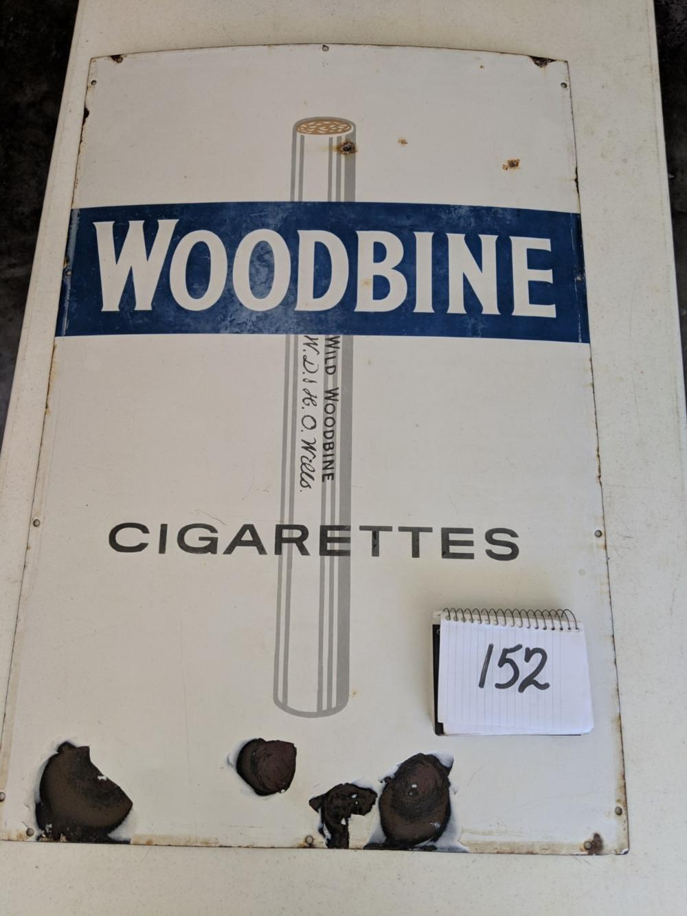 "Woodbine Cigarette Porcelain Sign W.D & H.O Wills 36""x24"""