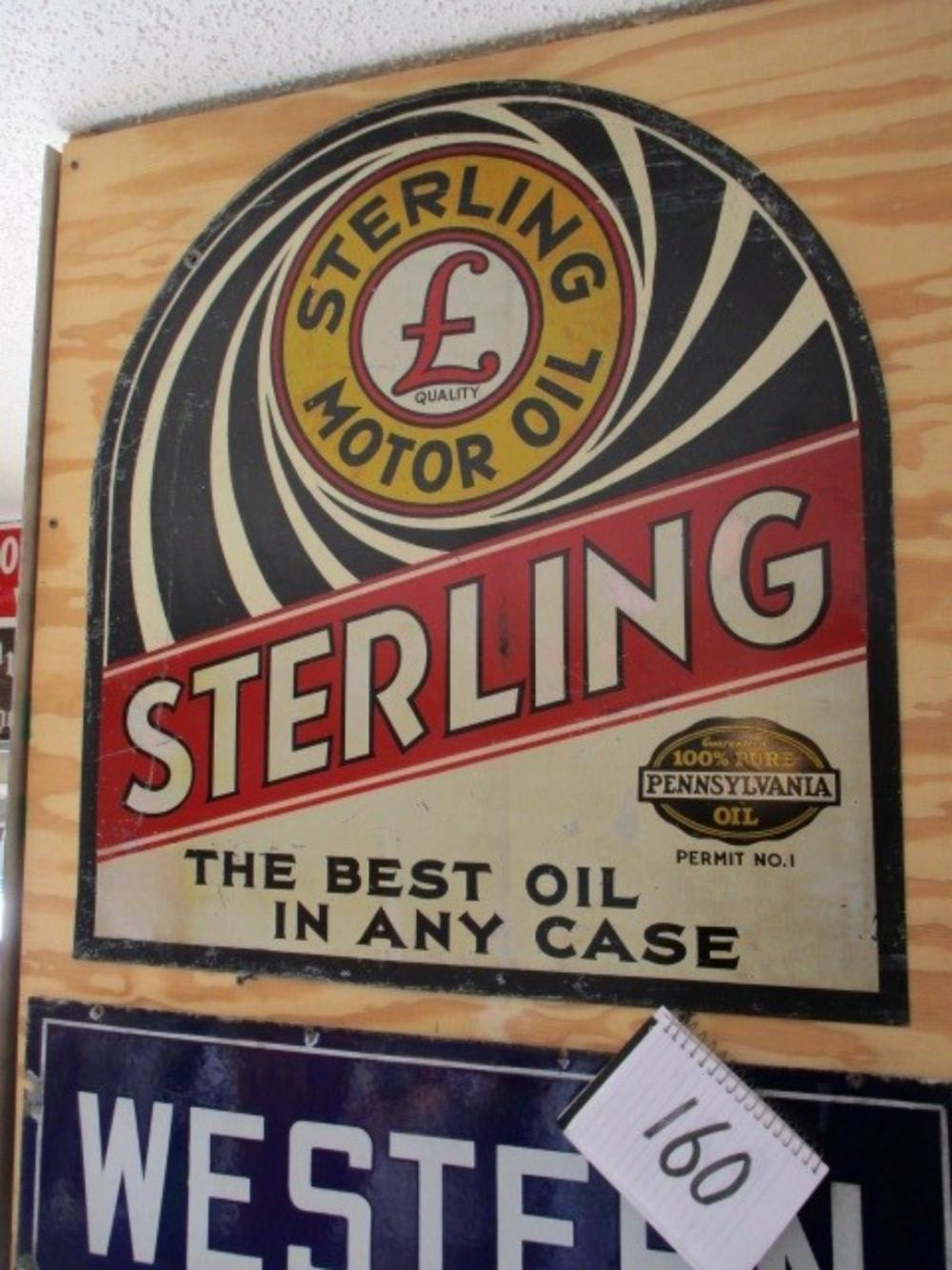 "Sterling Motor Oil The Best Oil in Any Case 27""x29"""