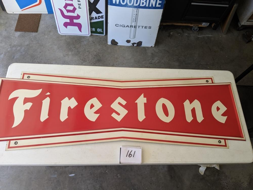 "Embossed Firestone Painted Metal 72""x23"""