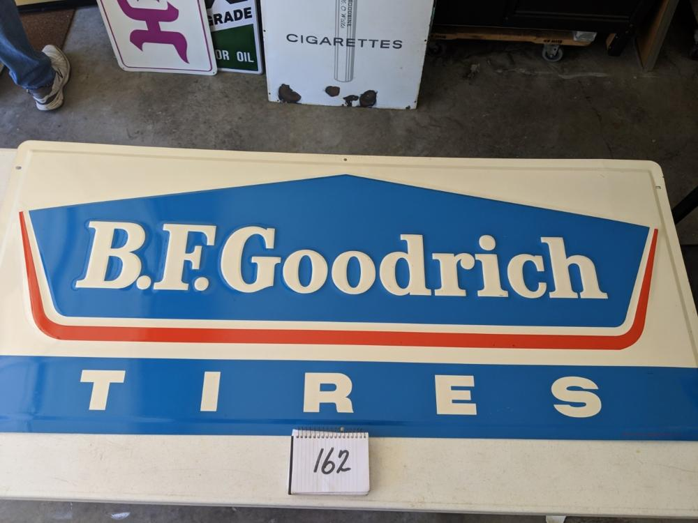 "B.F. Goodrich Tires New Old Stock 60""x20"" Embossed Painted"