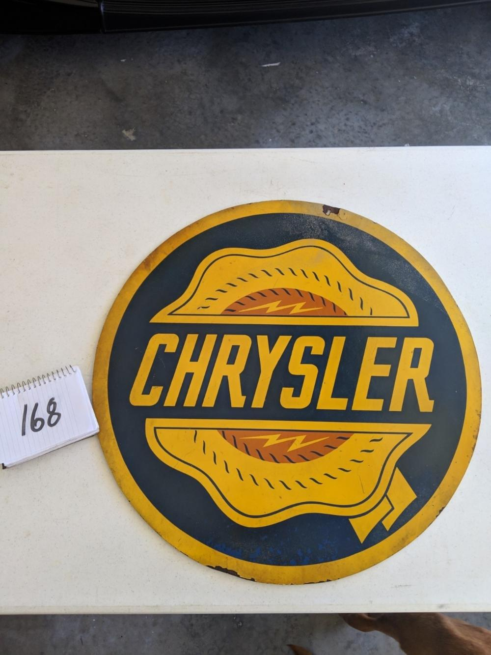 "Chrysler + Quality 1st Masonite Double Sided Sign 24"" Round"