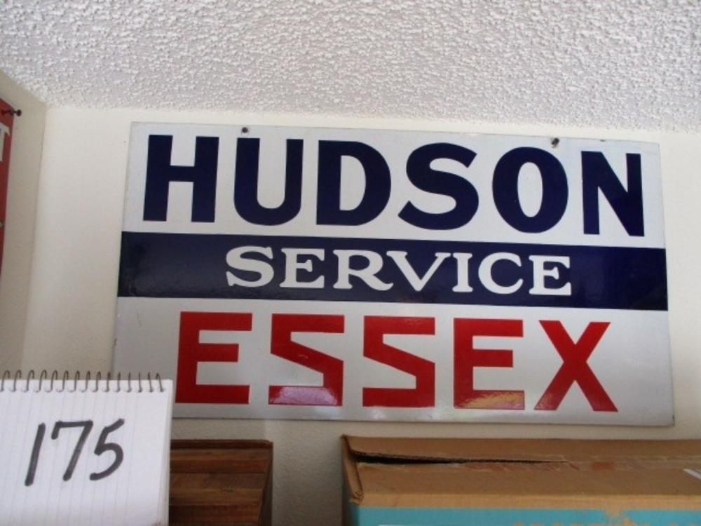 "Hudson Service Essex Porcelain Sign 30""x16"""