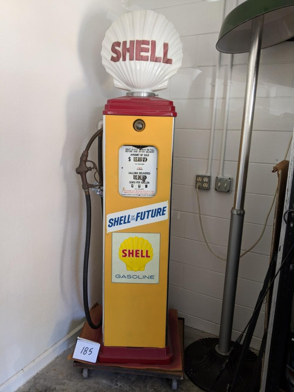 1940s Erie Pump Shell of the Future Shell Gas Pump Original Shell Globe