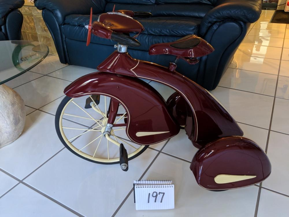 "1937 Sky King Tricycle 16"" Wheel Restored"
