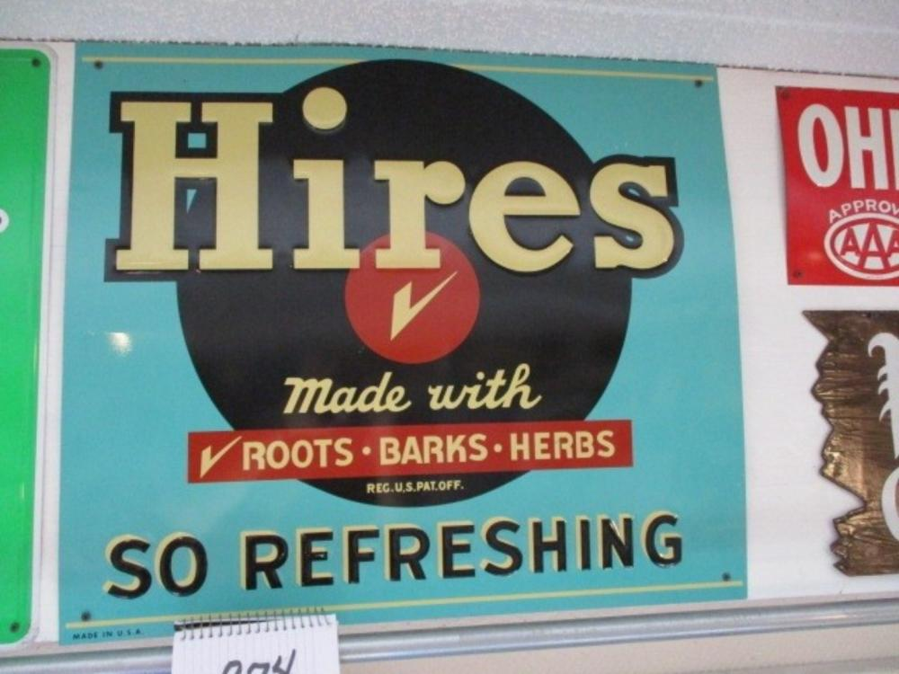 "Hires So Refreshing Made with Roots, Barks, Herbs 28""x24"" Tin Sign"