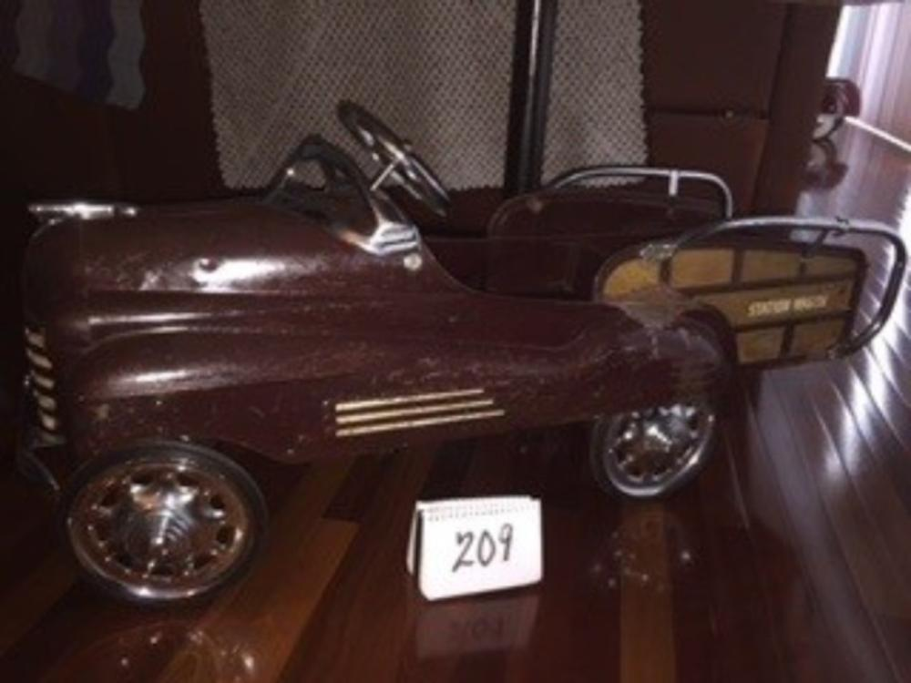 1947 Pontiac Station Wagon Original Pedal Car
