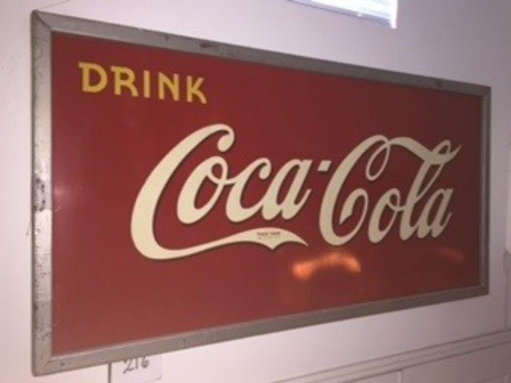 "36""x72"" Drink Cocal Cola Sign in Wood Frame 5 of 39 Hand Painted"