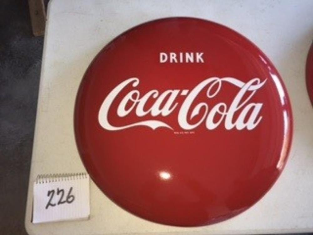 "24"" Porcelain Drink Coca Cola Button"