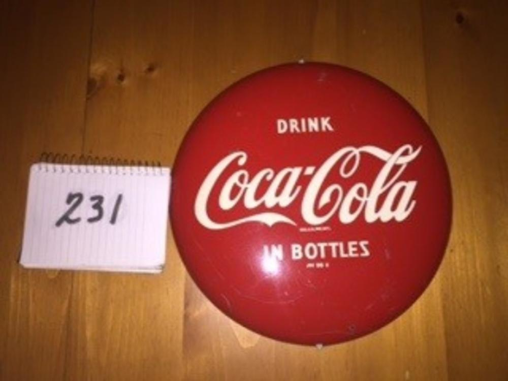 "12"" Drink Coca Cola in Bottles Button"