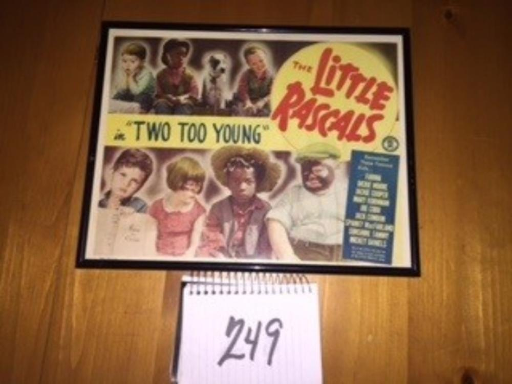 "Little Rascals ""Two Too Young"" Lobby Card Original 12""x18"""