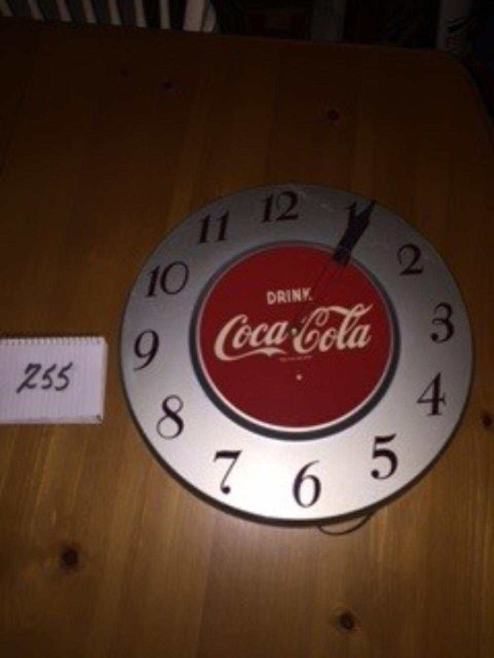 "18"" 1951 Drink Coca Cola Clock Silver"
