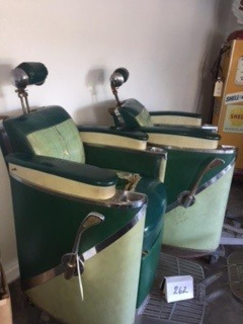 Koken President Barber Chair Late 1950s Early 1960s (2) HBC