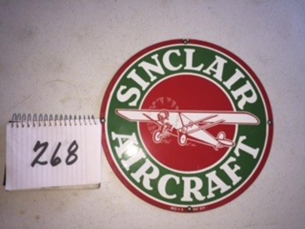 Sinclair Aircraft Round Sign Repro