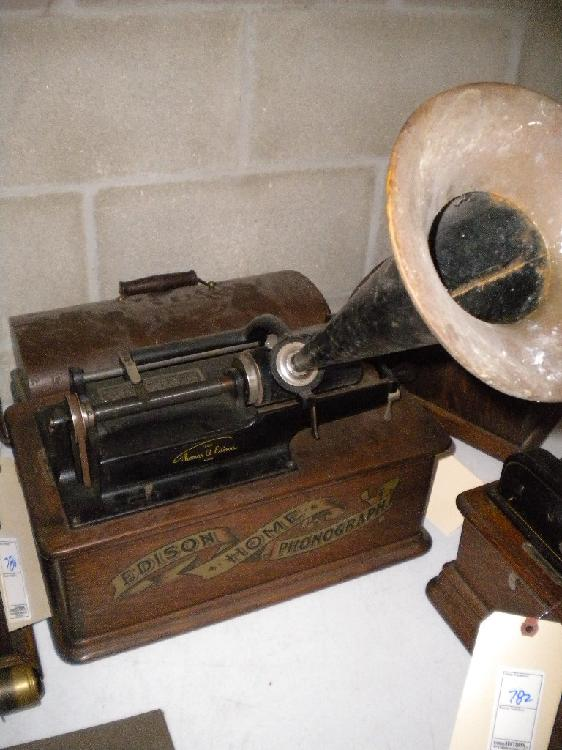Edison home phoneograph cylinder record player, works