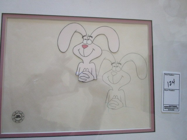 Original Hand Painted Production w/ Matching Drawing Trix Rabbit