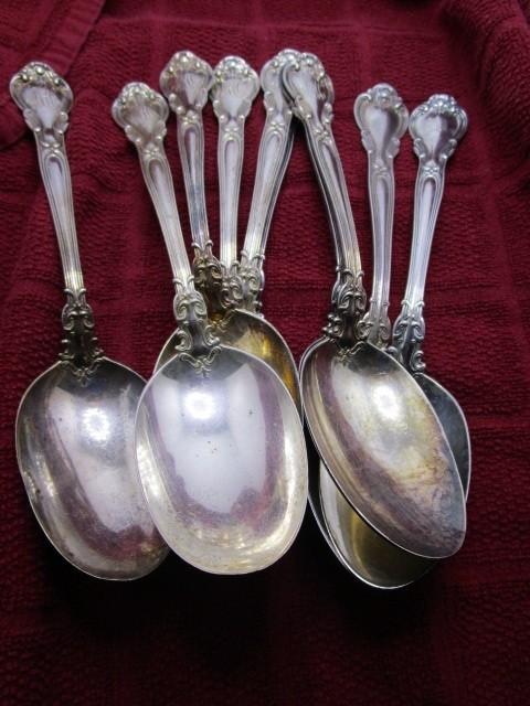 Sterling Serving Spoons Engraved (10) 21.52oz