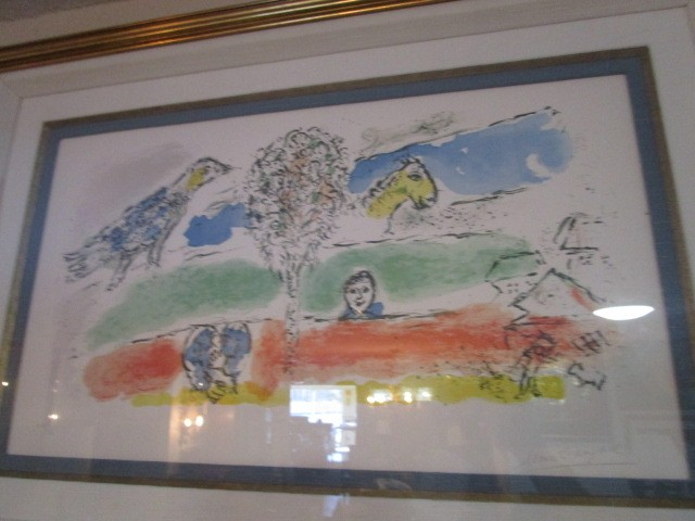 """Marc Chagall Pencil Signed Numbered Lithograph 26 of 50 """"Le Fleuve Vert"""""""
