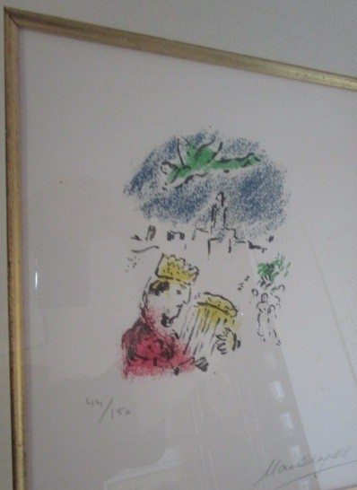"""Marc Chagall Pencil Signed Numbered Lithograph 44 of 150 """"David"""""""