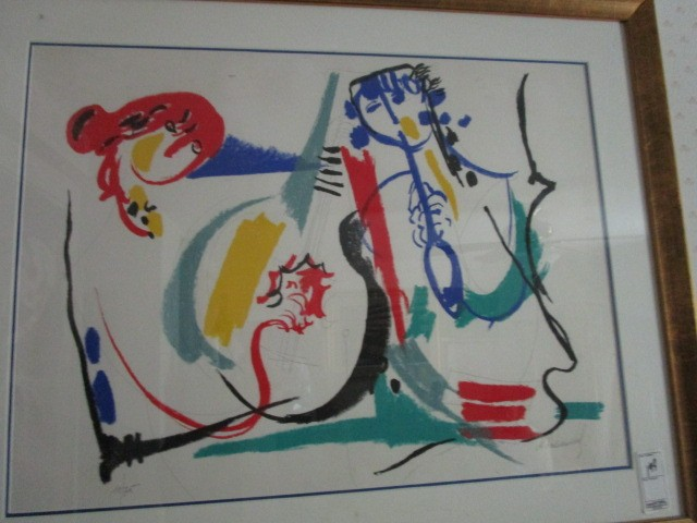 """M. Rosenthal 71 of 75 Lithograph 21""""x29"""" Pencil Signed"""