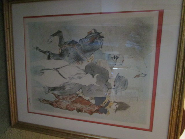 """Toulouse-Lautrec Numbered Print Stamp Signed 237 of 275 """"Napoleon"""""""