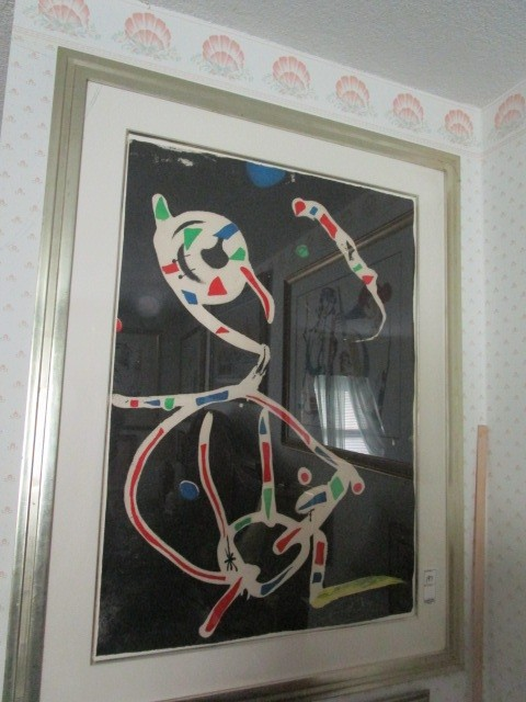 """Joan Miro 8 of 30 Framed Matted """"La Traca III"""" Pencil Signed Etching"""