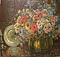 KERSHAW SCHOFIELD, Still Life with Flowers, Pewter, Kershaw Schofield, Click for value