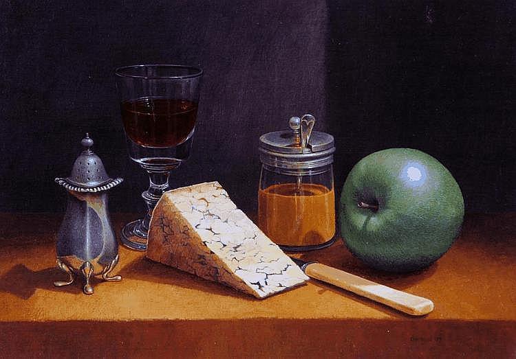 TIM GUSTARD (b 1954), Still Life with Glass of
