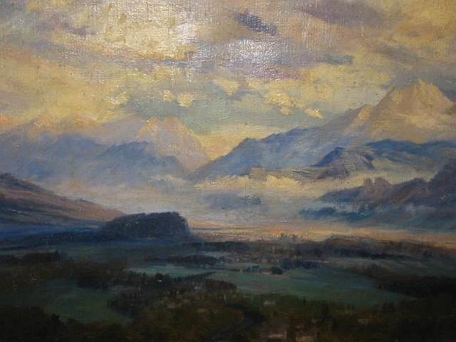 ANNE BROOKE (1916-2002), The Alps from Salzburg,