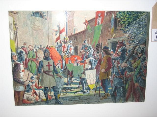 QUINTO CENNI (1845-1919), The First Crusaders