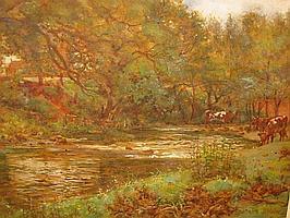 JOHN DOBBY WALKER (1866-1925), Cattle Watering at