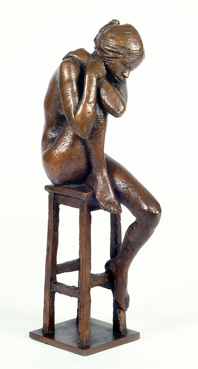 DAVID BACKHOUSE F.R.B.S. (1941- ), Bronze study