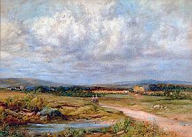 PERCY BROOKE (exh 1894-1916), Summer Landscape