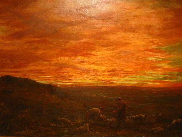 HENRY R HALL (fl 1875-1902), Gathering the Cattle,