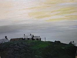 JOHN VIRTUE (1947- ), View of Gaulkthorn, Misty