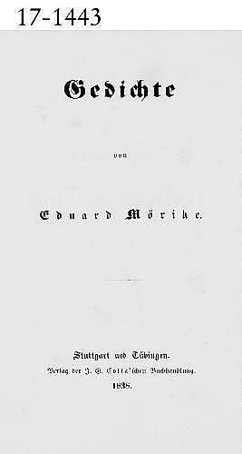 Mörike, Eduard.