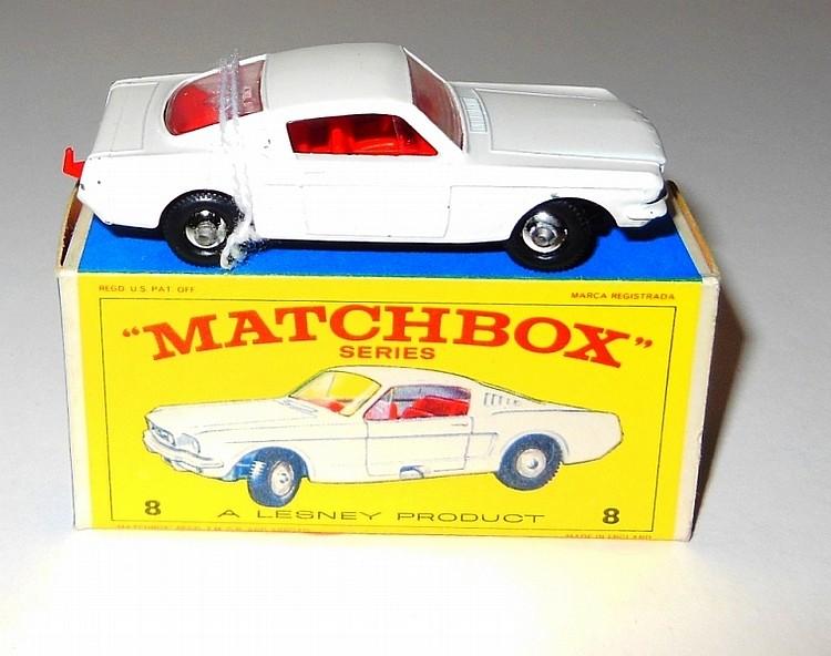 93. VINTAGE LESNEY MATCHBOX #8 FORD MUSTANG M.I.B.