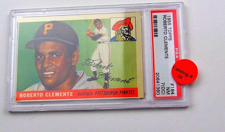 1955 TOPPS #164 ROBERTO CLEMENTE ROOKIE
