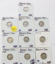 MERCURY DIME LOT