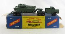 Matchbox Moko Lesney No. 3 Tank Transporter and Centurion Tank Toy in Original Box