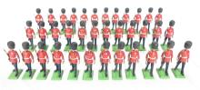(36) Britains Ltd Royal Guardsman Painted Lead Toy Soldiers. 2 5/8