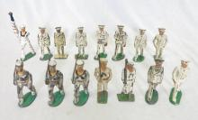 (15) U.S. Navy Sailor Painted Lead Soldiers. Few Marked Manoil on bottom
