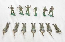 (13) U.S. Army Painted Lead Toy Soldiers. 2.25