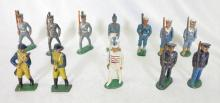 (12) Painted Lead Toy Soldiers Sailors, Infantry, Revolutionary War. 3.5