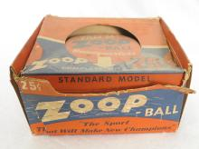 1937 Standard Model Zoop Ball Game with Original Box and Rules. Ball not included