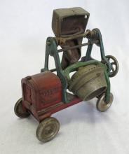 1930's Kenton Jaeger Cast Iron Cement Mixer Toy Truck