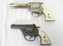 Pair of Gene Autry Cast Iron Toy Cap Guns. 6.5