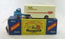 Matchbox Moko Lesney No. 2 Walls Ice Cream Truck & Trailer Toy in Original Box