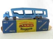Matchbox Moko Lesney No. 2 Accessory Pack Car Transporter Truck & Trailer Toy in Original Box